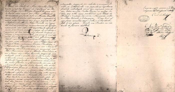 Decreto emitido por d. João que determinava a abertura dos portos do Brasil em 28 de janeiro de 1808.[2]