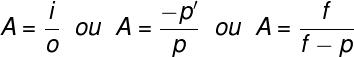 O aumento linear transversal pode ser calculado por qualquer uma dessas fórmulas.