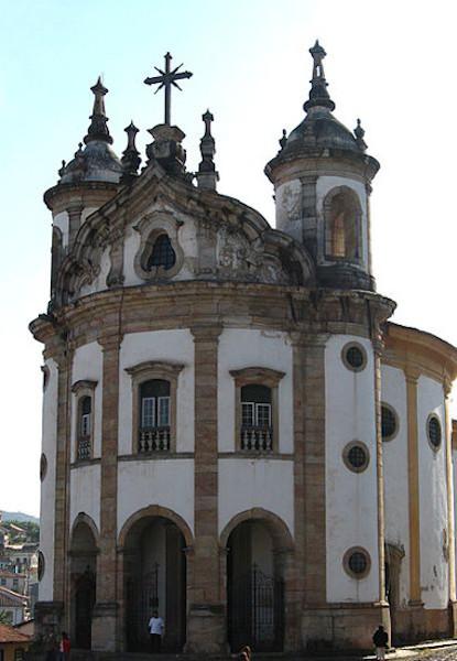 A Igreja Nossa Senhora do Rosário, de Ouro Preto, é um dos principais símbolos do barroco mineiro