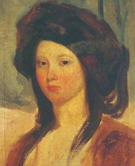 """Retrato de Juliette Drouet"", obra de Charles-Émile-Callande de Champmartin (1797-1883)."