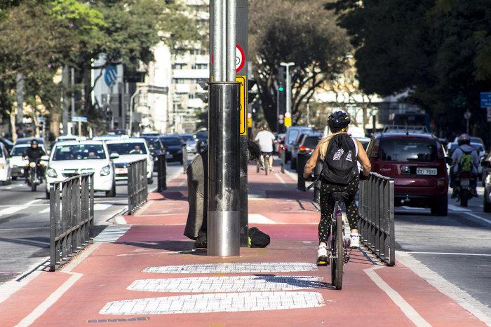 São Paulo dispõe de ampla infraestrutura de transportes, embora enfrente problemas de mobilidade urbana.[1]