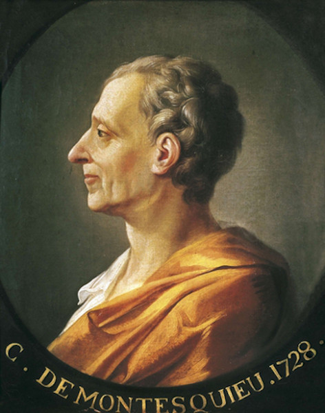 O filósofo e político francês Charles Montesquieu foi o grande sistematizador do modelo dos Três Poderes