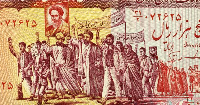 A Revolução Islâmica de 1979 foi um dos assuntos de campanha de Ronald Reagan.