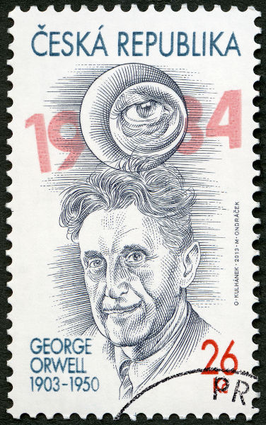 Traduzido para diversos idiomas, George Orwell foi homenageado em um selo da República Tcheca.  [1]