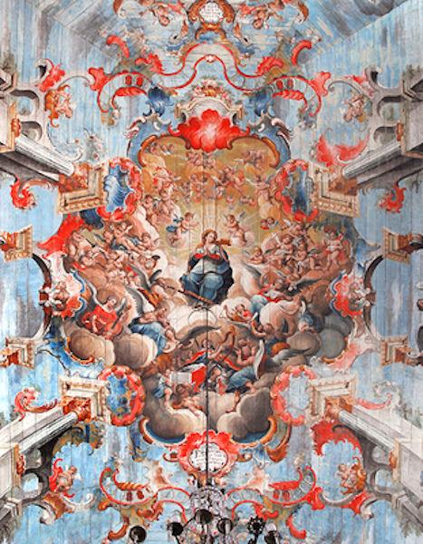 Pintura de Manuel da Costa Ataíde no teto da Igreja de São Francisco de Assis
