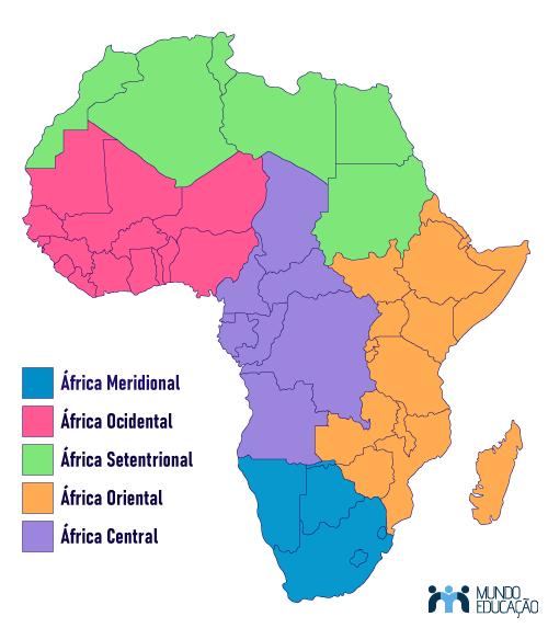 Divisão regional da África de acordo com a Organização das Nações Unidas (ONU).