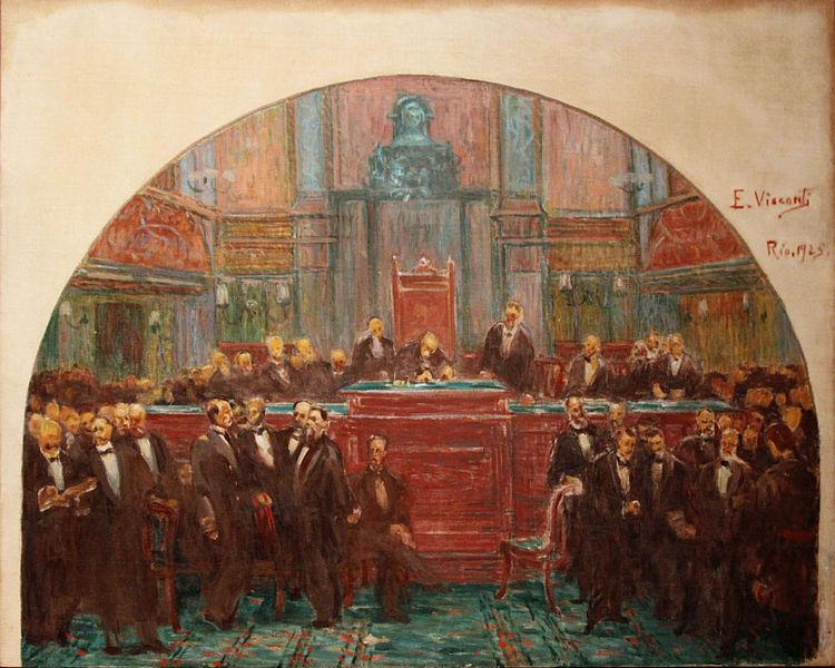 A Assembleia Nacional Constituinte promulgou a Constituição de 1891, cujo texto foi escrito por Rui Barbosa e Prudente de Morais.