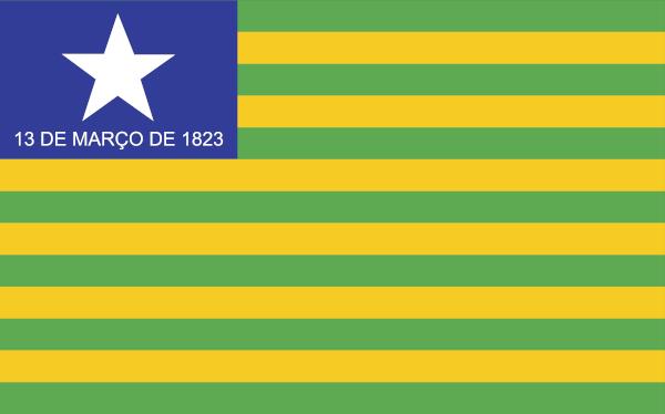 Bandeira do Piauí.