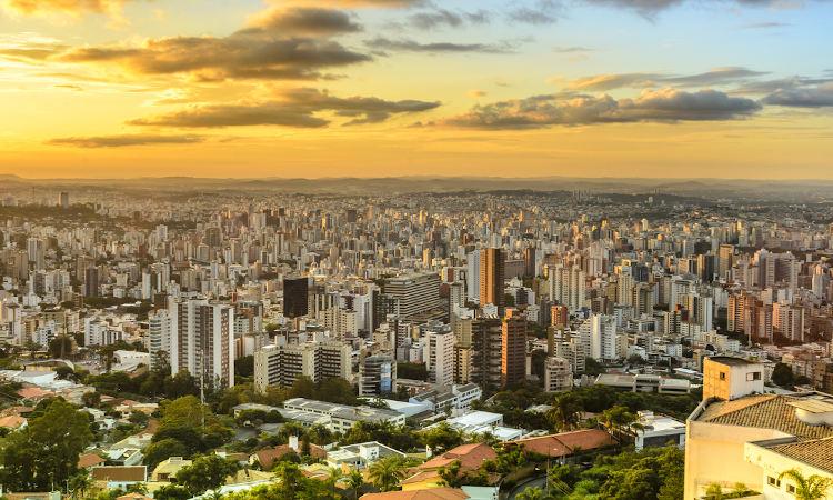 Cidade de Belo Horizonte, em Minas Gerais, uma das capitais mais ricas do Brasil.