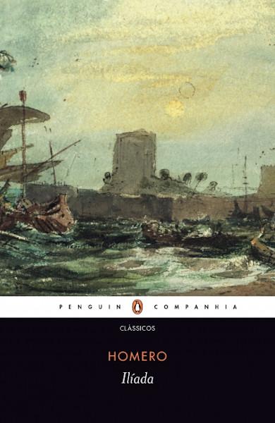 Capa do livro Ilíada, de Homero, publicado pela editora Companhia das Letras.[1]