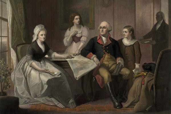 George Washington pertencia a uma das famílias mais ricas e influentes da Virgínia.