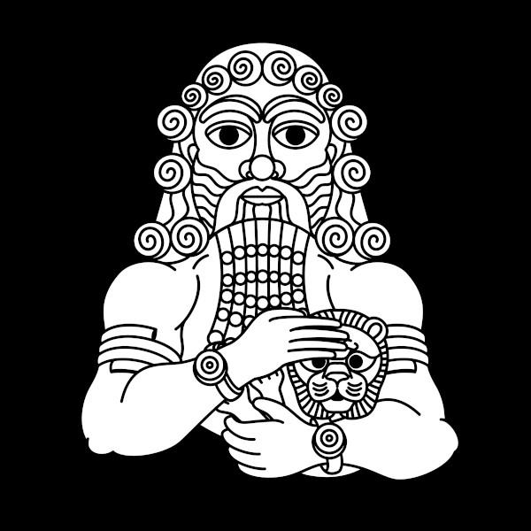 Gilgámesh, o herói mitológico da Epopeia de Gilgámesh.