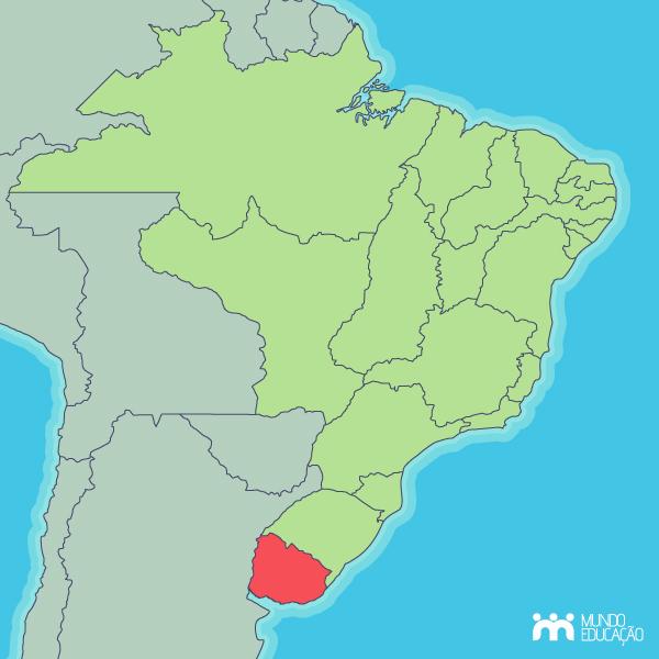 Localização da Província da Cisplatina, atual República Oriental do Uruguai.