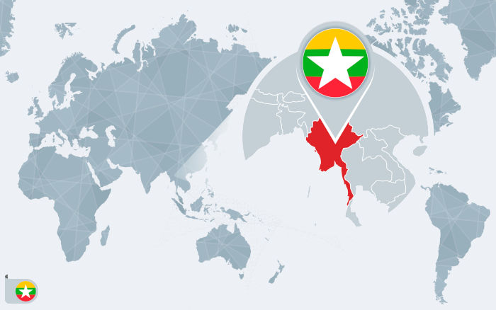 O Mianmar é um país localizado no sudoeste asiático, fazendo fronteira com países como Índia, Bangladesh e Tailândia, por exemplo.