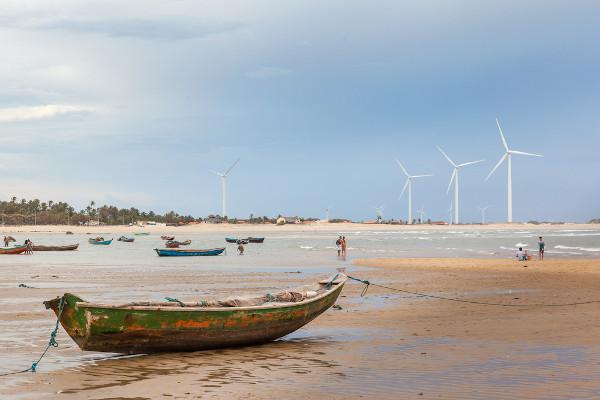 Vista de parque eólico no Piauí.