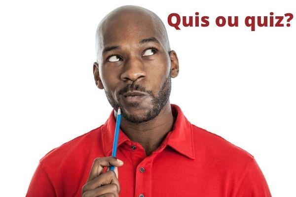 """A dúvida sobre o uso de """"quis"""" e """"quiz"""" é algo comum."""