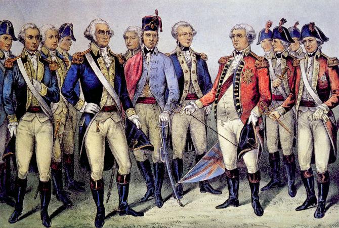 George Washington foi o comandante das tropas dos colonos na luta contra os ingleses pela independência.