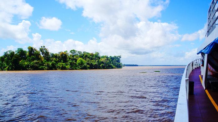 O transporte hidroviário é um dos meios utilizados para os deslocamentos no Amapá.