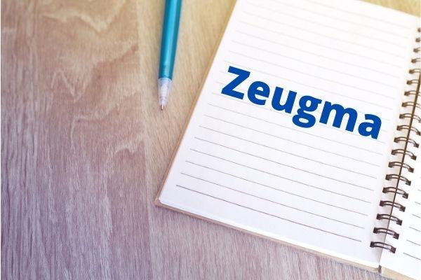 A zeugma é uma figura de linguagem utilizada para evitar repetição de termos em um texto.