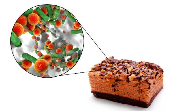 Alimentos contaminados são responsáveis pela intoxicação alimentar.