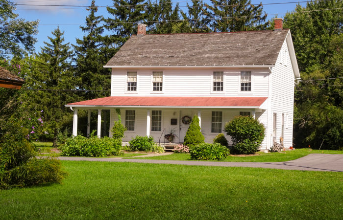 A residência de Harriet Tubman em Auburn abrigou a sua família depois que eles foram resgatados.[2]