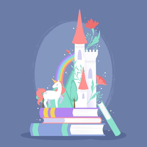 Por meio dos livros infantis, as crianças são introduzidas no mundo da leitura.