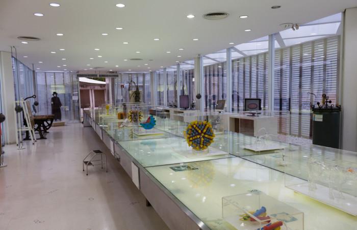 Na foto é possível observar o interior do Museu de Microbiologia do Instituto Butantan.[2]