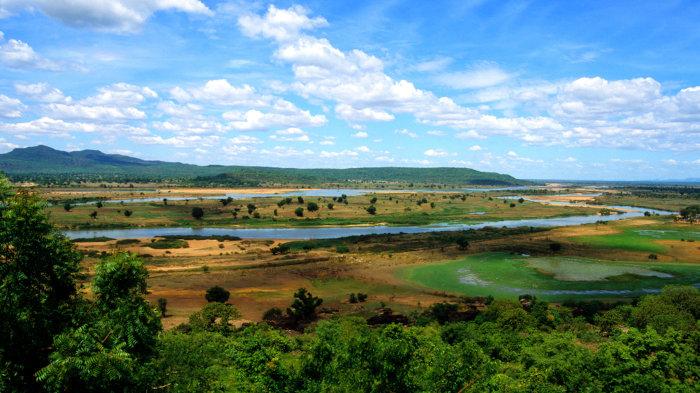A geografia da Nigéria é caracteriza por paisagens com grandes áreas de planície, além de Floresta e clima Tropical.