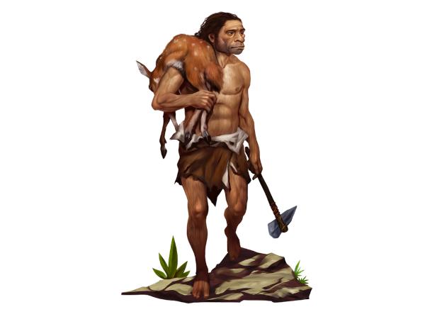 O ser humano do Paleolítico era caçador, pescador e coletor, utilizando instrumentos feitos com pedra lascada.
