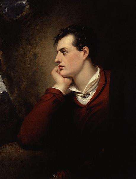 George Gordon Byron, obra de Richard Westall (1765-1836).