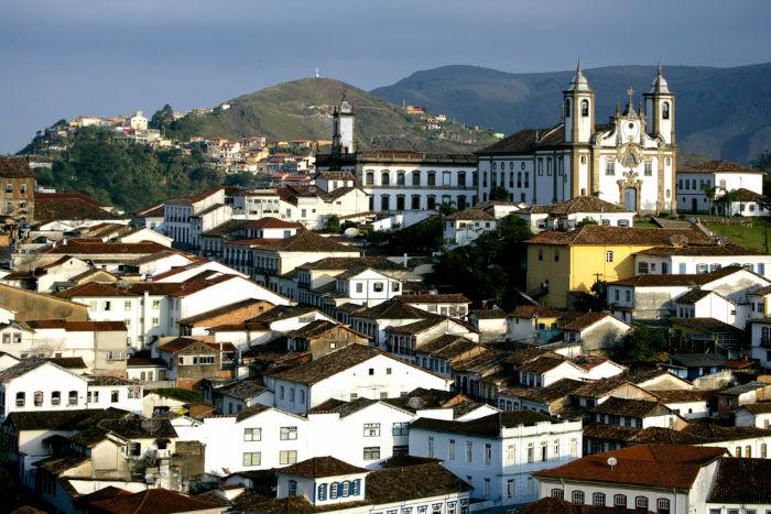 A cidade de Ouro Preto, localizada em Minas Gerais, foi umas das várias cidades históricas fundadas durante o auge do período da mineração.