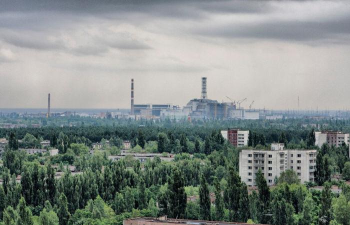 Pripyat, cidade onde ficava a usina nuclear que sofreu um acidente em abril de 1986. Atualmente a cidade está abandonada.