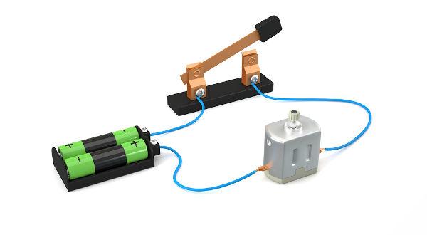 O motor elétrico, como o mostrado na imagem, é um tipo de receptor.