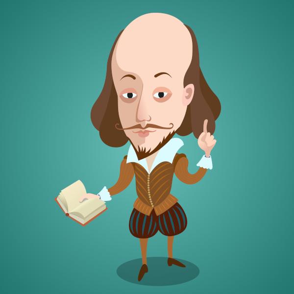 O escritor inglês William Shakespeare, assim como outros poetas, ao criar seus sonetos, deu voz a um eu lírico.