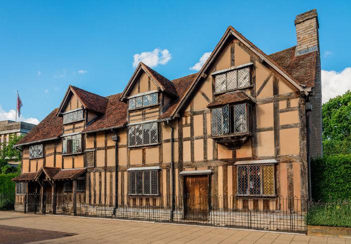 Local de nascimento de William Shakespeare, em Stratford, Inglaterra.