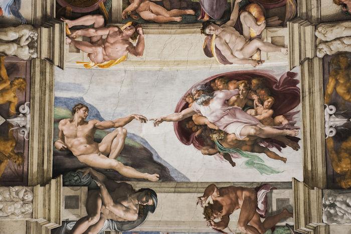 Detalhe da Capela Sistina, no Vaticano. Obra feita durante o Renascimento. [1]