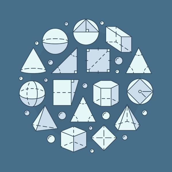 A quantidade de dimensões define e diferencia as figuras planas e espaciais.