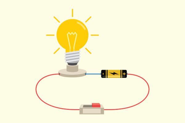 A pilha é um exemplo de um gerador elétrico real, pois apresenta resistência interna não nula.