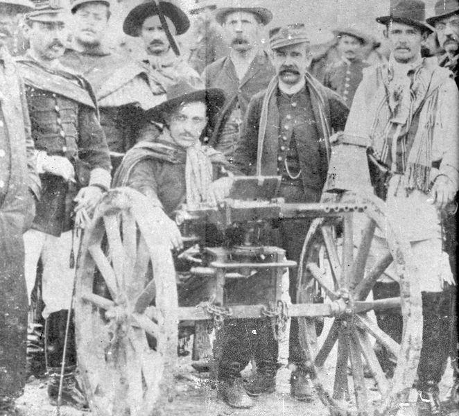Participantes da Revolução Federalista, em 1893.