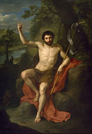 Legenda: São João Batista retratado na pintura de Anton Raphael Mengs.