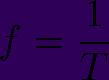 Fórmula para determinar a frequência de uma onda