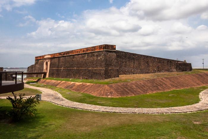 Foto do Forte do Presépio, em Belém, Pará.