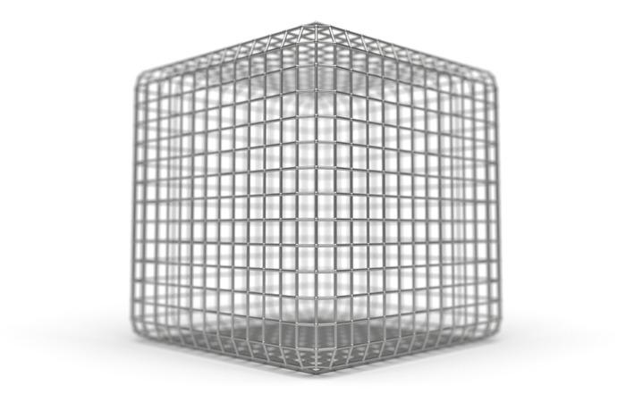 Representação de uma gaiola de Faraday