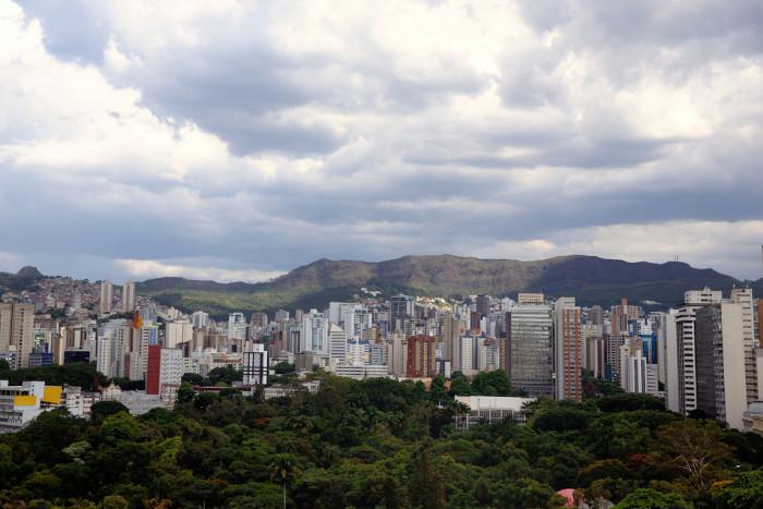 Vista da serra do Curral em Belo Horizonte, Minas Gerais.