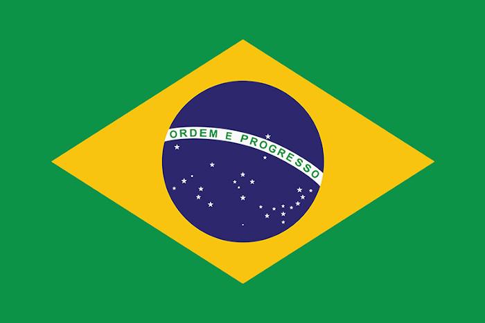 Bandeira brasileira, um dos nossos símbolos nacionais.