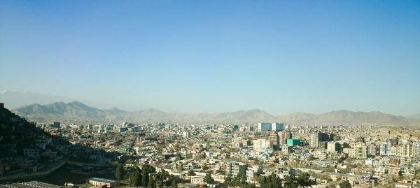 Vista aérea de Cabul, capital do Afeganistão.