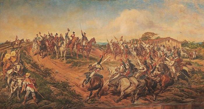 Pintura representando a proclamação da independência.