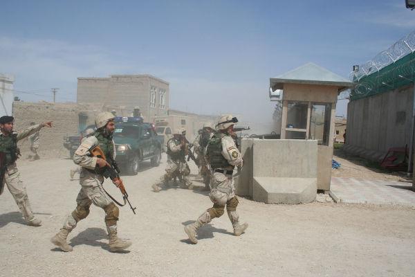 Soldados norte-americanos no Afeganistão.