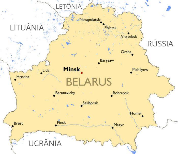 Mapa de Belarus