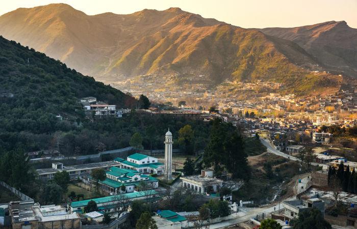 Vista do Vale Swat, região onde Malala vivia.